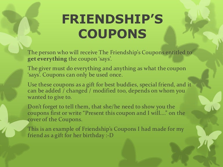 Friendship S Coupons