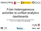From heterogeneous activities to unified analytics dashboards