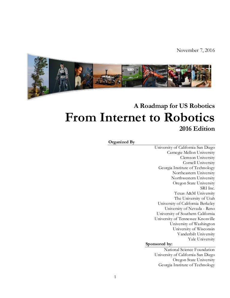 2016 From Internet To Robots A Roadmap