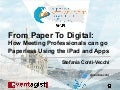 From paper to digital - how meeting professionals can go paperless using the iPad and apps