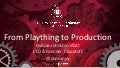 From Plaything to Production - Cloud Foundry Summit Shanghai 2015