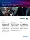 Frontier Airlines Makes In-Flight Sales Easier, More Efficient with Samsung Galaxy Tablets