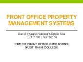 Property Management System in Front Office Operations