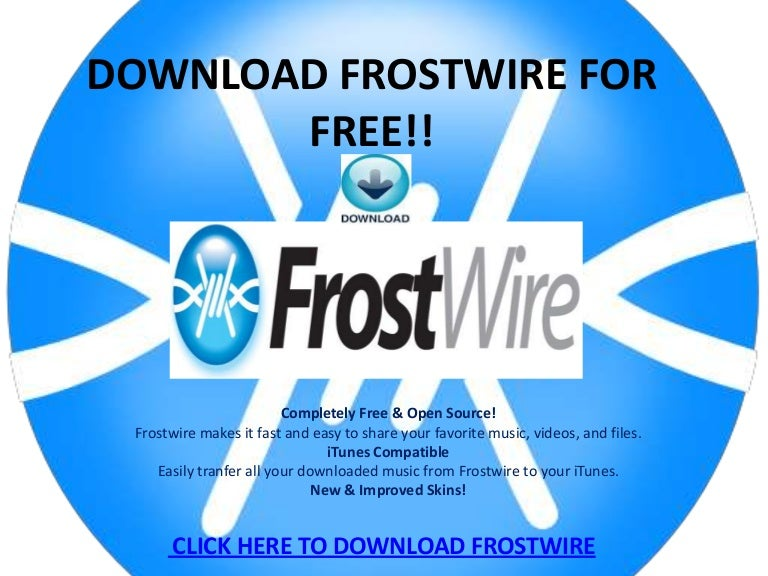 Frostwire free music downloads