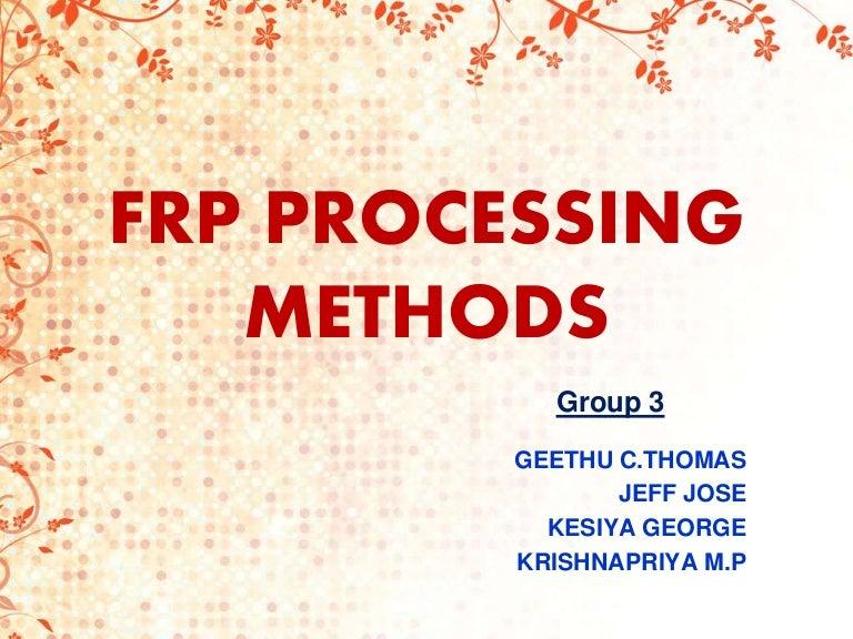 Plastic processing methods ppt