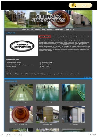 FRP Products Philippines - Fibermax Corp