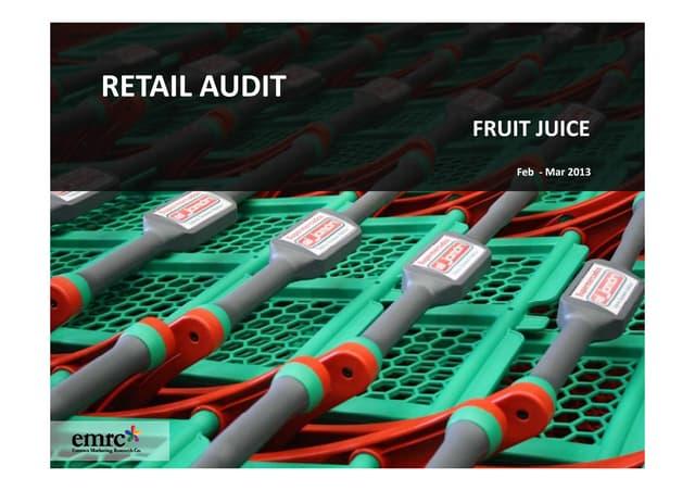 Emrooz Marketing Research Co. (EMRC) -Retail Audit - Fruit Juice Sample Report
