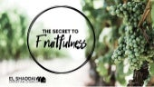 The Secret to Fruitfulness - 31 March - Michael Howard