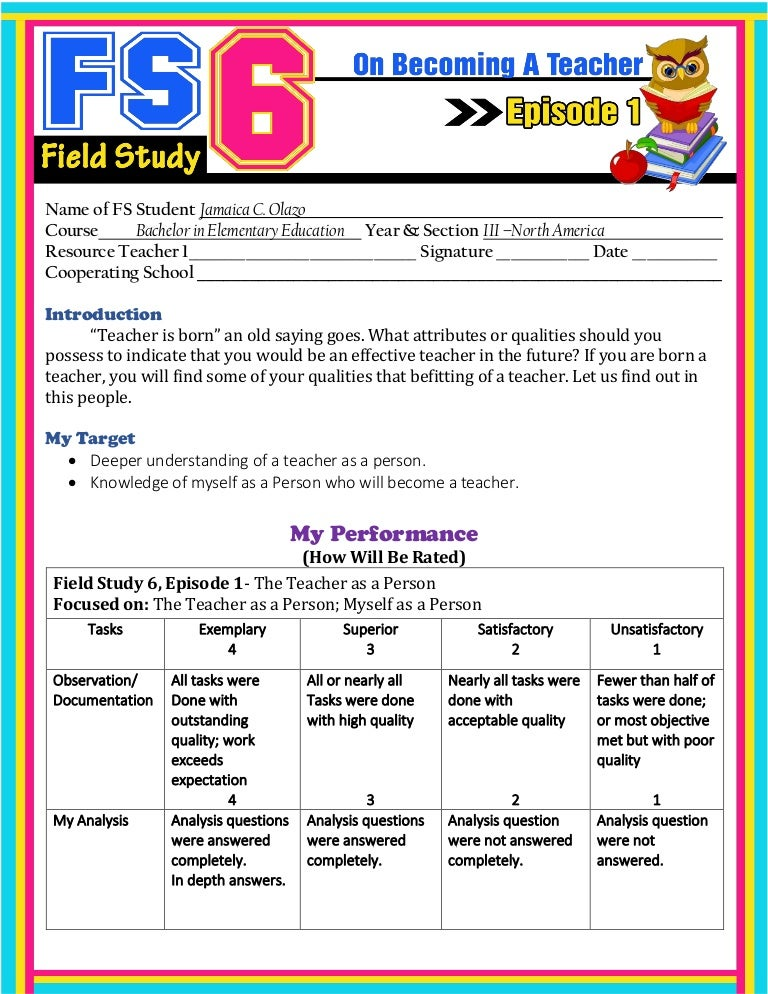 field study 1 episode 1-6 answers pdf