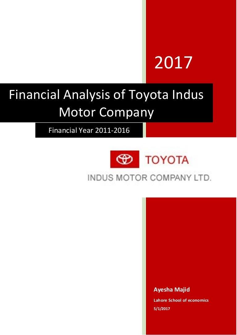 Financial statement analysis of toyota indus motors buycottarizona Gallery