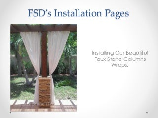 How To Install Faux Stone Columns For Porch Pillars