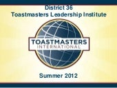 Webmastery for Toastmasters