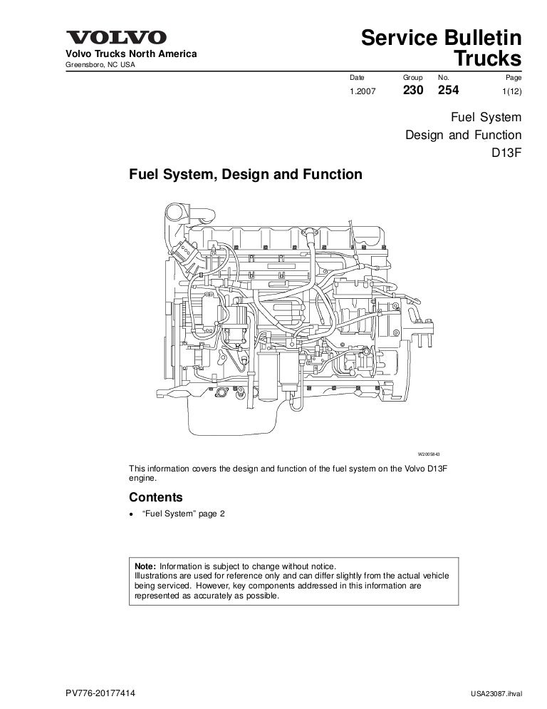 Fuel d13 | Volvo Vnl Truck Wiring Diagrams Low Air |  | SlideShare