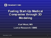 Fueling Start-Up Medical Companies through 3D Modeling