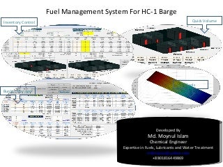 Computerized Fuel Management System in a Barge