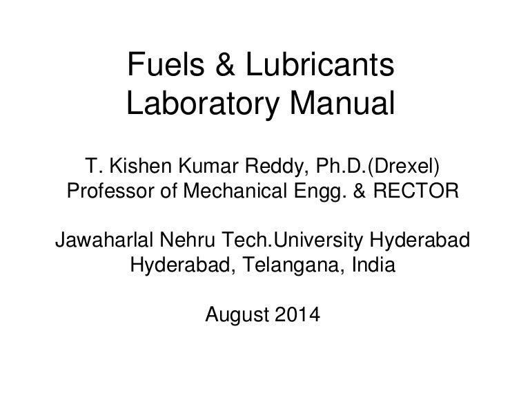 Lubricants handbook and pdf fuels