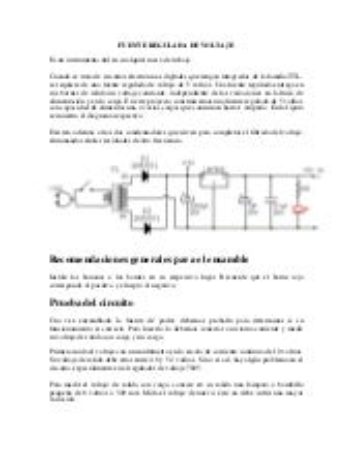 Fuente regulada de voltaje