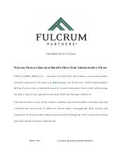 Fulcrum Partners Executive Benefits Hires Chief Administrative Officer