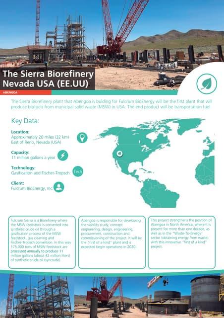The Sierra Biorefinery – Nevada USA