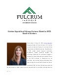 Fulcrum Partners LLS Media Release: Kristine Kopsiaftis of Fulcrum Partners Elected to SFCB Board of Directors.