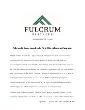 Fulcrum Partners Launches Its First #GivingTuesday Campaign