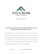 Fulcrum Partners Supports Operation Underground Railroad Through the Work of Managing Director Monte Harrick