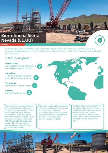 Biorrefinería Sierra – Nevada (EE.UU)