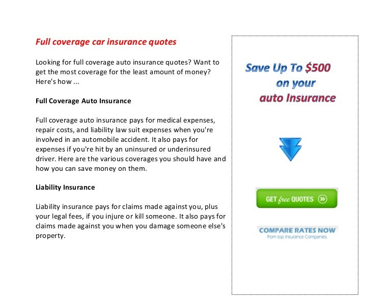coverage car insurance quotes