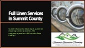 Full Linen Services in Summit County