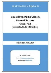 Countdown Mathematics Class 6th Second Edition Chapter 8 Solution (Introduction to Algebra)
