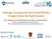 Damage Assessment from Social Media Imagery Data During Disasters