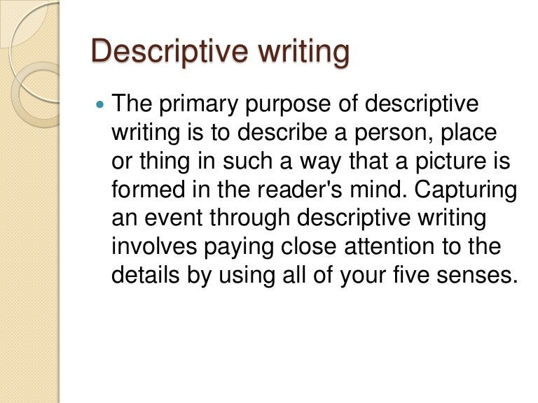 Purpose of narrative essay