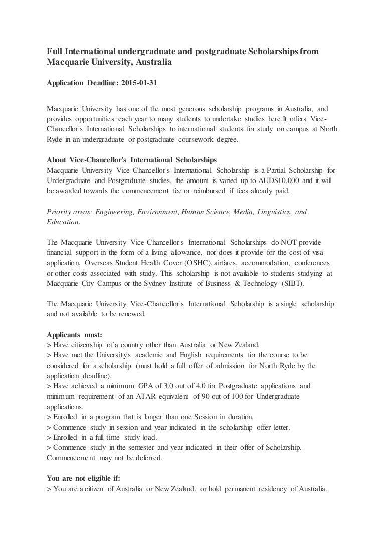 Coursework studies macquarie
