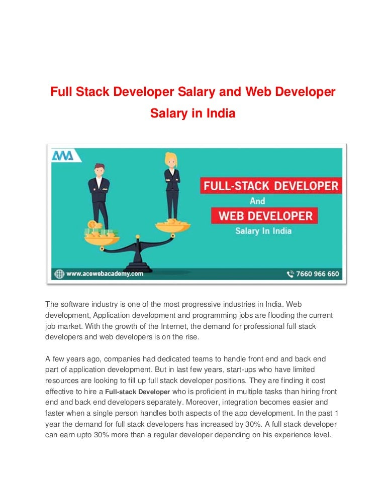 Full Stack Developer Salary And Web Developer Salary In India Convert