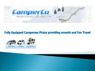 Fully equipped campervan picton providing smooth and fun travel