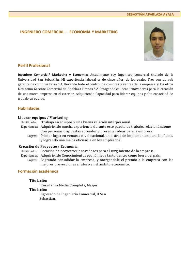 Único Formato De Curriculum Vitae De Ventas Motivo - Ejemplo De ...