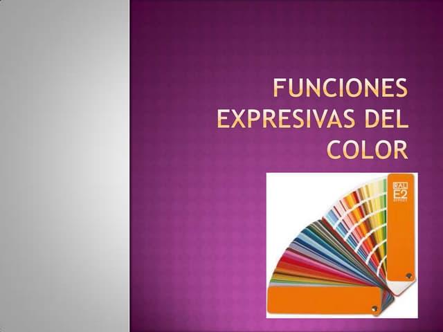 Funciones expresivas y tratamiento color