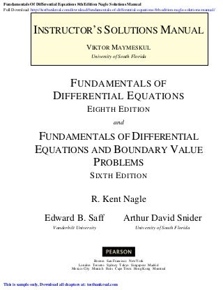 Differential Equations and Dynamical Systems | Home