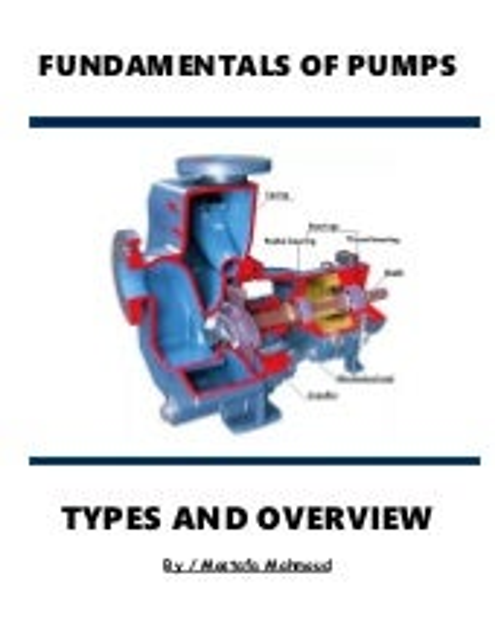 Fundamentals of pumps I Types and overview I Gaurav Singh Rajput