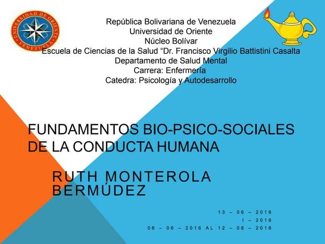 Fundamentos bio psico-sociales de la conducta humana
