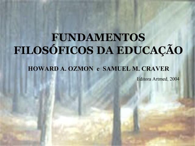 Fundamentos da filosofia da educação   1