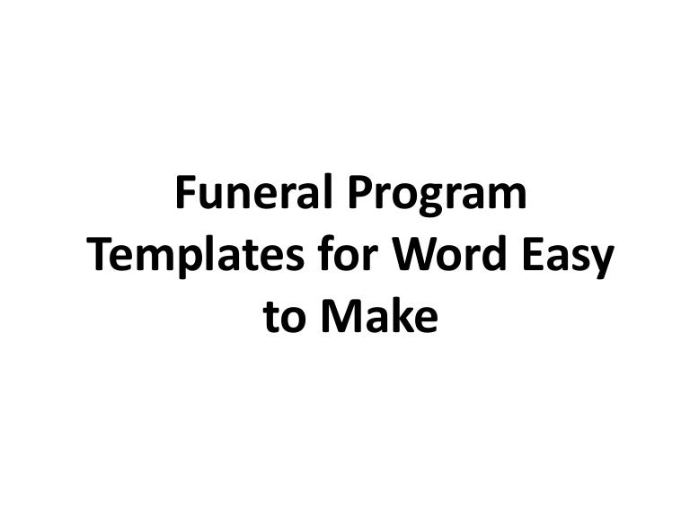 SlideShare  Free Memorial Program Templates