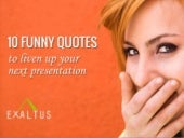 10 Funny Quotes for your Next Presentation