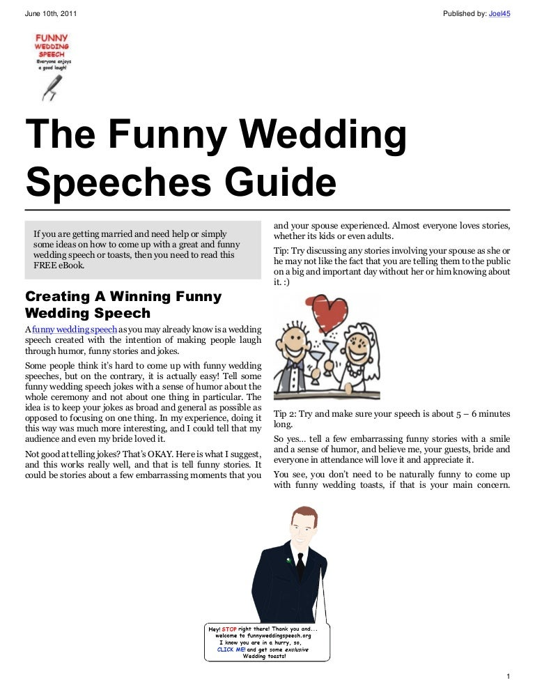 Funny wedding speeches guide junglespirit Images