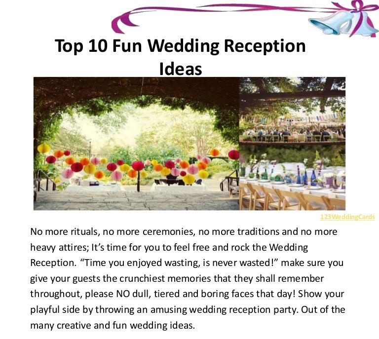 Top 10 Fun Wedding Reception Ideas