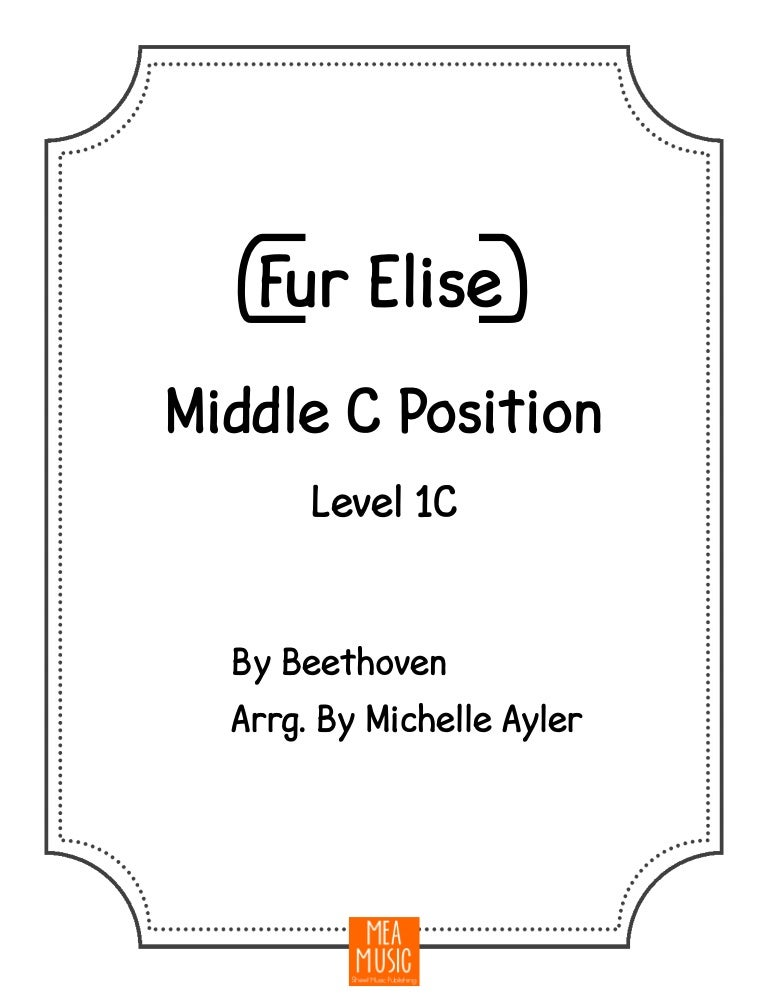 Fur Elise Beginner Piano Sheet Music