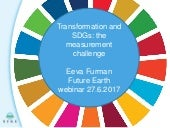 Eeva Furman: Transformation and SDGs: The Measurement Challenge