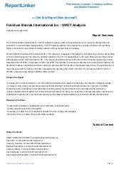 Furniture Brands International Inc Swot Analysis Company Profile
