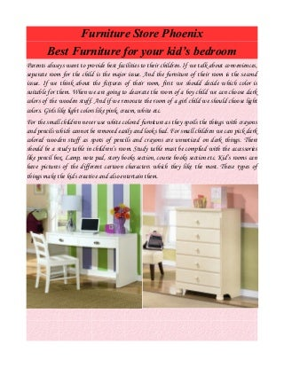 Furniture store phoenix best furniture for your kid's bedroom