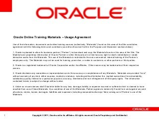 Oracle Fusion Financials Overview